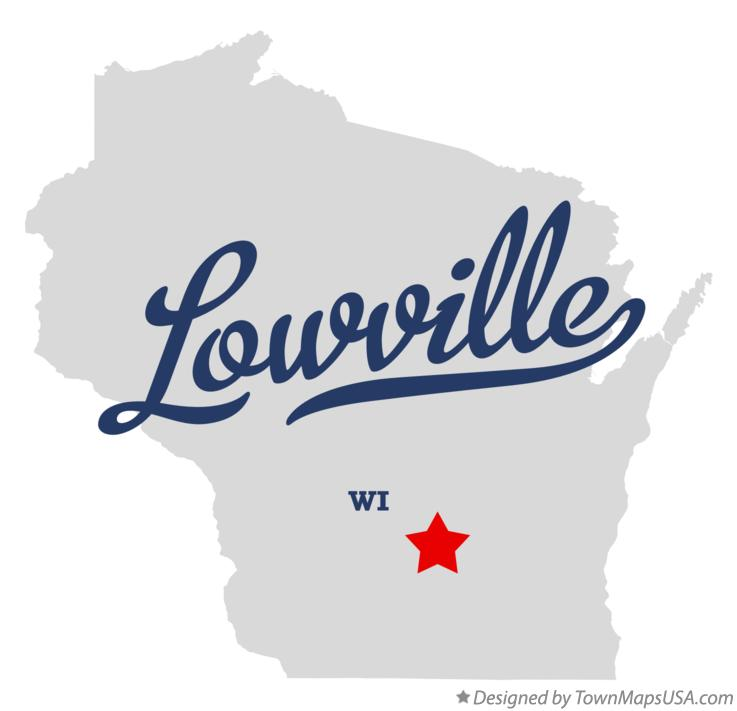 Map of Lowville Wisconsin WI