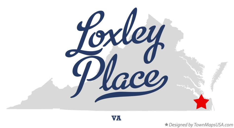 Map of Loxley Place Virginia VA