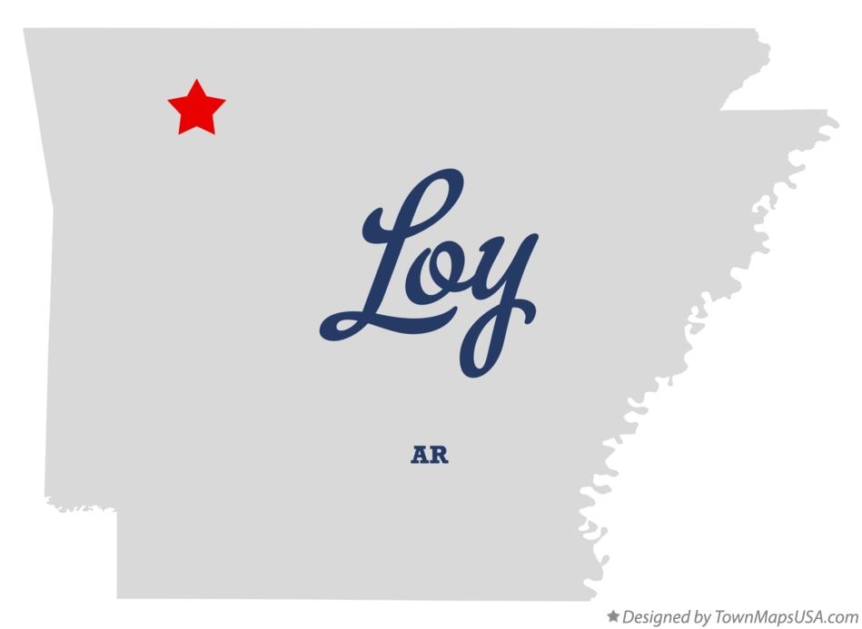 Map of Loy Arkansas AR