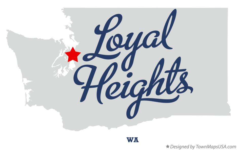 Map of Loyal Heights Washington WA