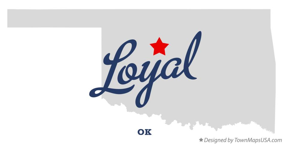 Map of Loyal Oklahoma OK