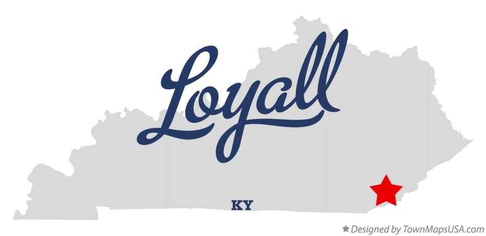Map of Loyall Kentucky KY