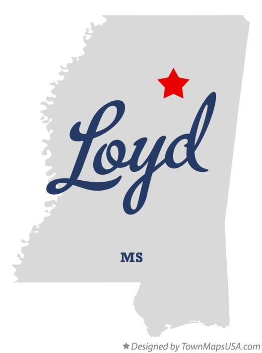 Map of Loyd Mississippi MS