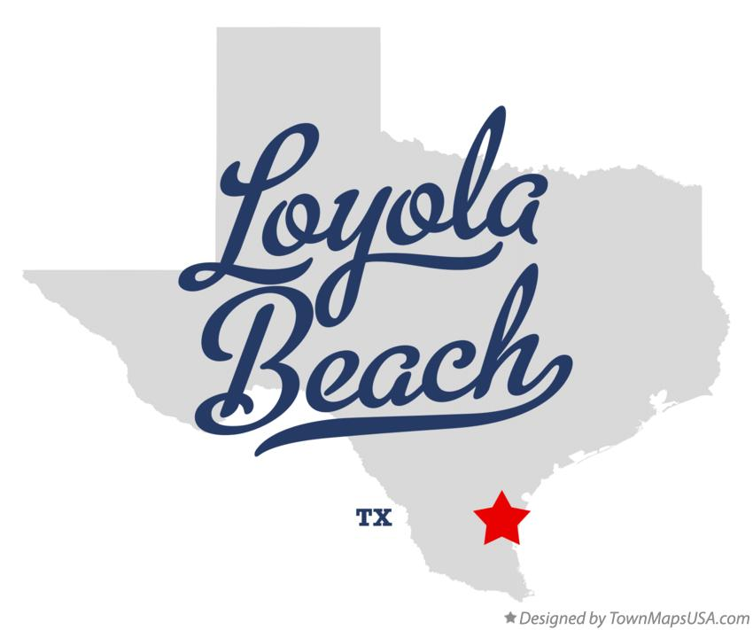 Map of Loyola Beach Texas TX