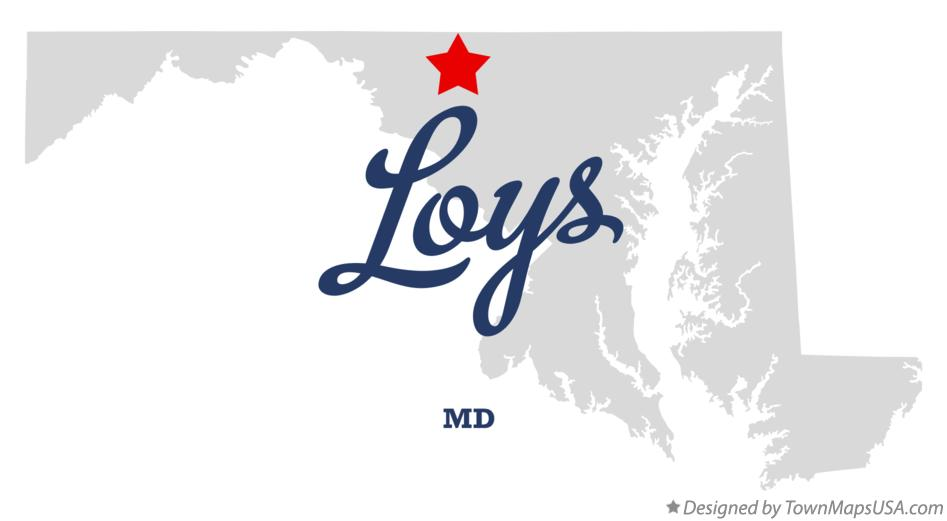 Map of Loys Maryland MD