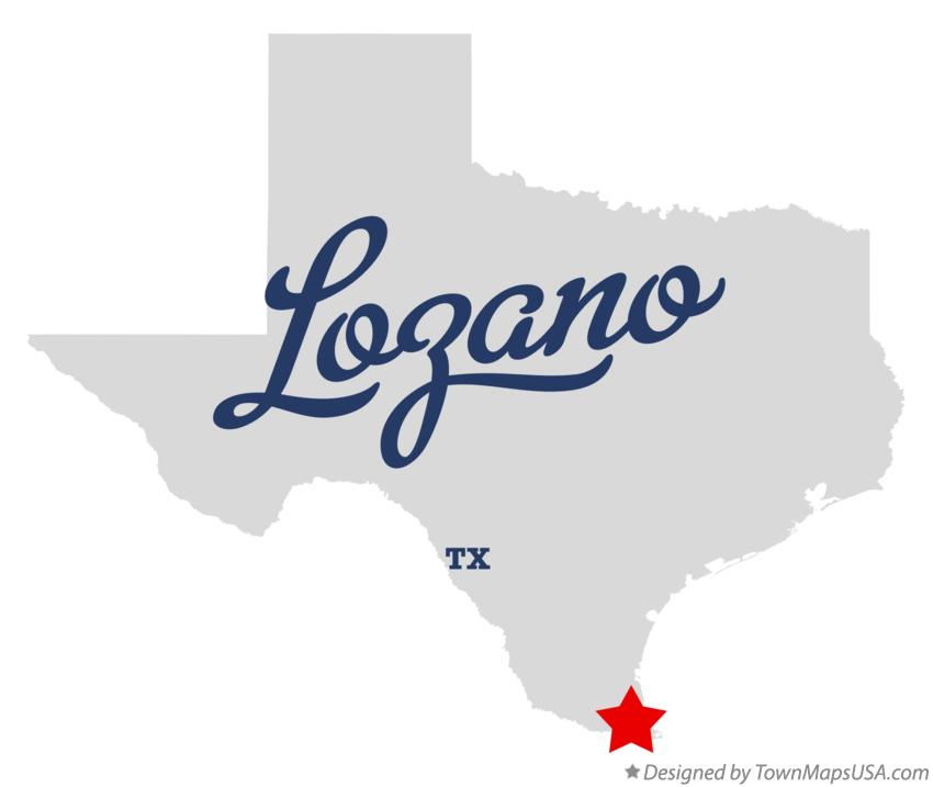 Map of Lozano Texas TX