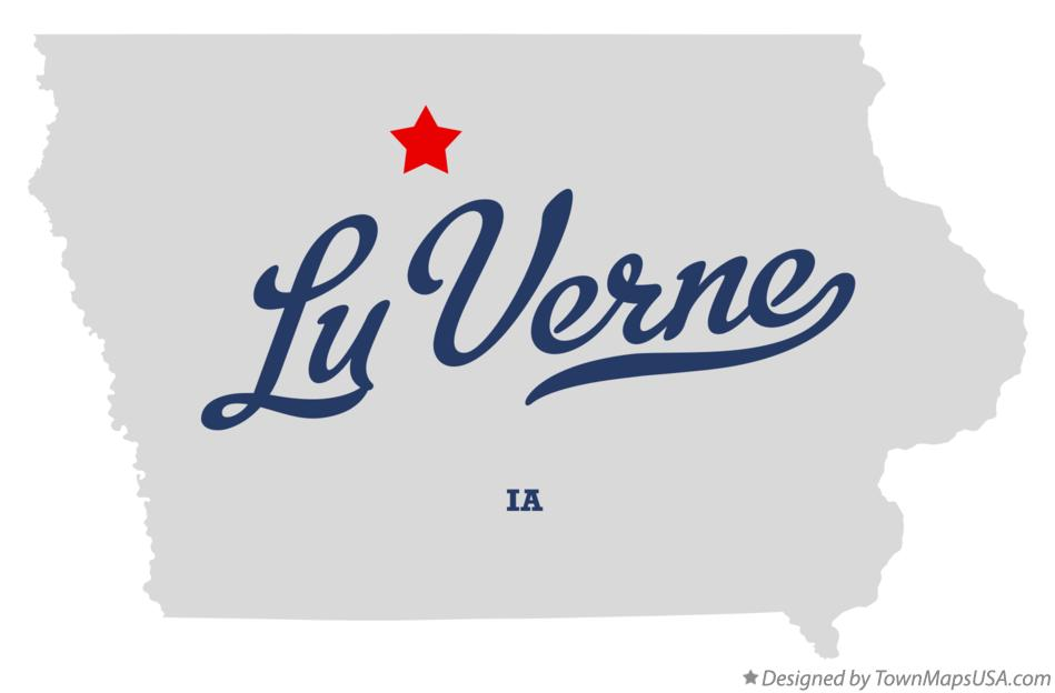 Map of Lu Verne Iowa IA