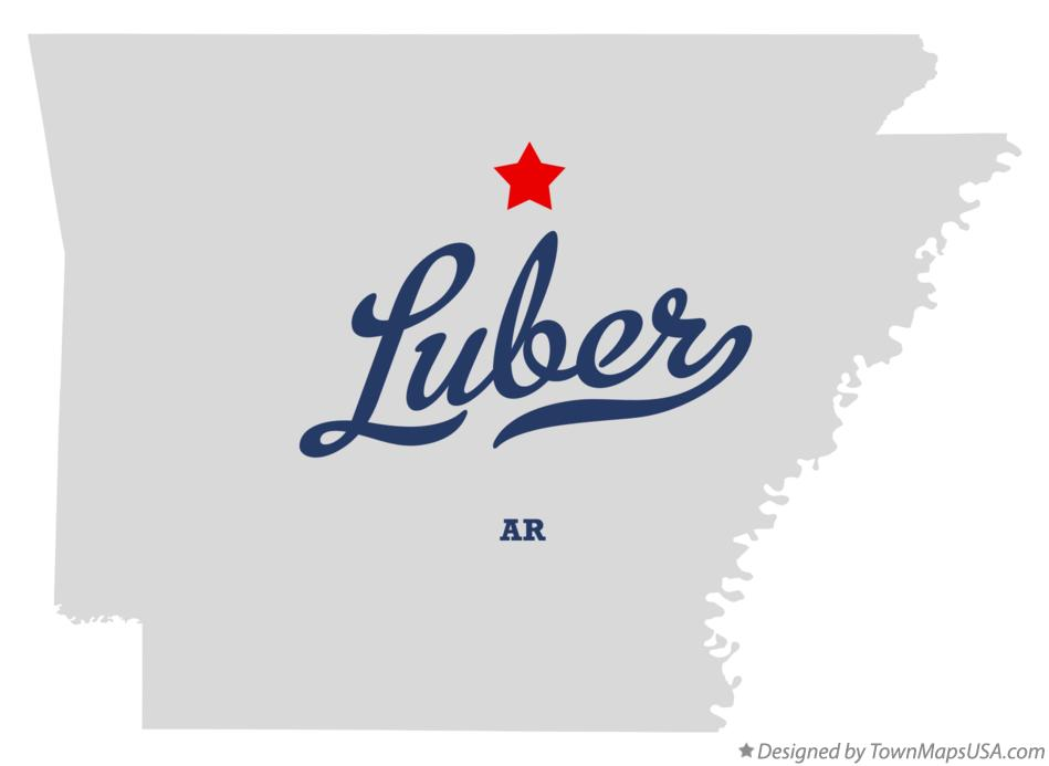 Map of Luber Arkansas AR
