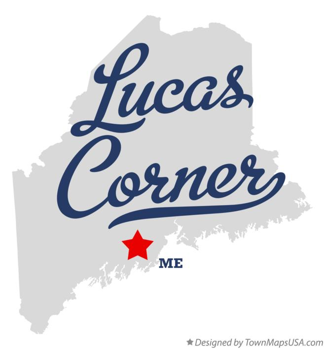 Map of Lucas Corner Maine ME