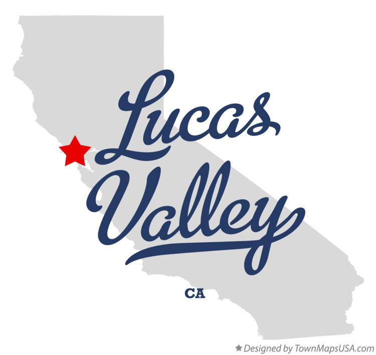 Map of Lucas Valley California CA