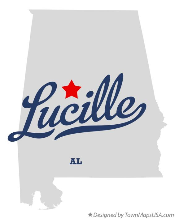 Map of Lucille Alabama AL