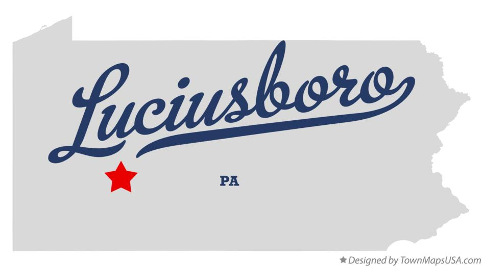 Map of Luciusboro Pennsylvania PA