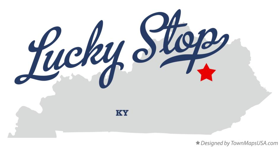 Map of Lucky Stop Kentucky KY