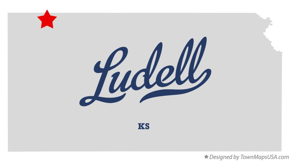 Map of Ludell Kansas KS
