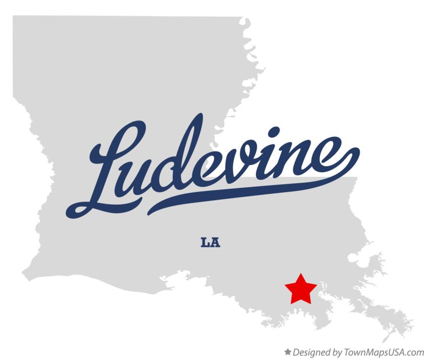 Map of Ludevine Louisiana LA