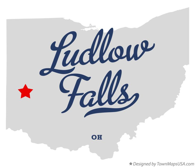 Map of Ludlow Falls Ohio OH