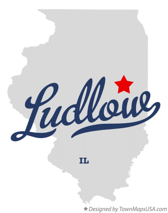 Map of Ludlow Illinois IL