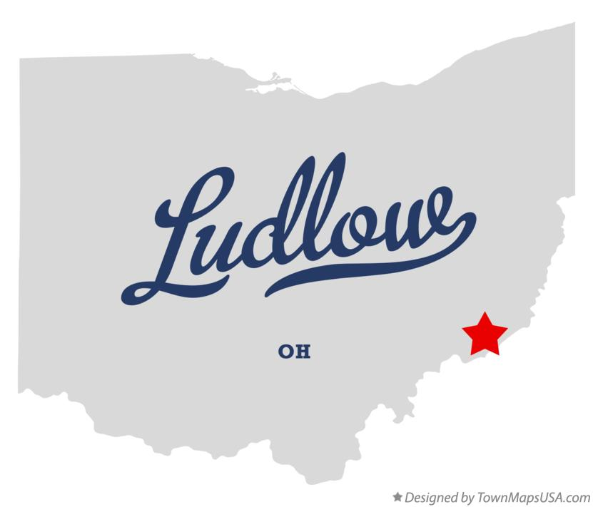 Map of Ludlow Ohio OH