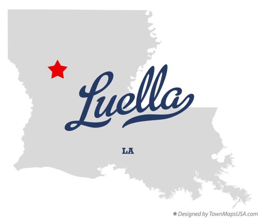 Map of Luella Louisiana LA