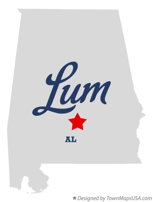 Map of Lum Alabama AL