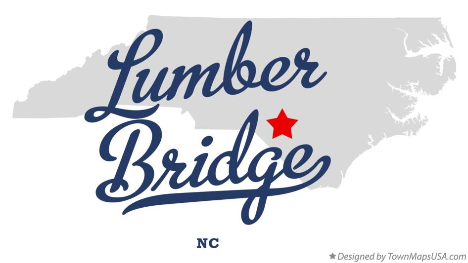 Map of Lumber Bridge North Carolina NC