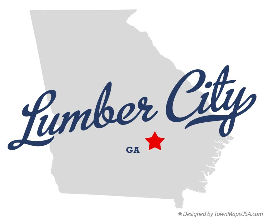 Map of Lumber City Georgia GA