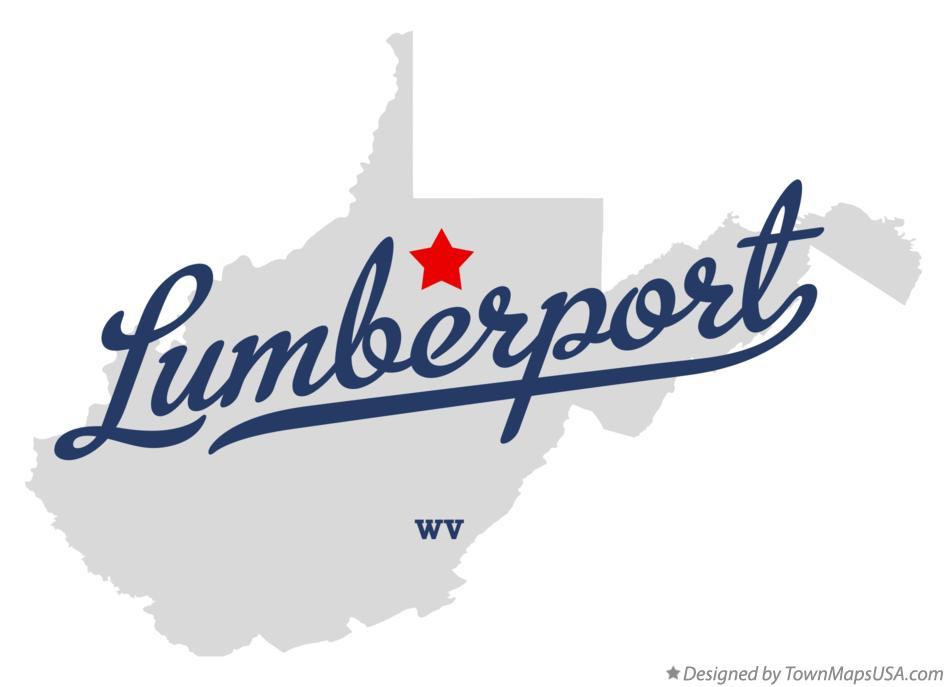Map of Lumberport West Virginia WV