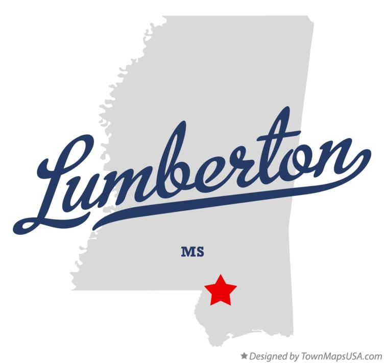 Map of Lumberton Mississippi MS