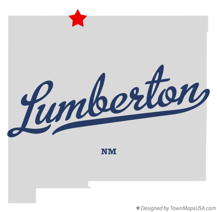 Map of Lumberton New Mexico NM