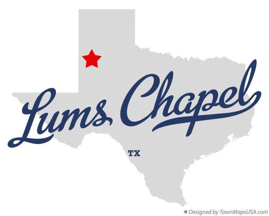 Map of Lums Chapel Texas TX
