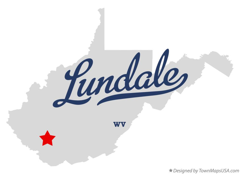 Map of Lundale West Virginia WV