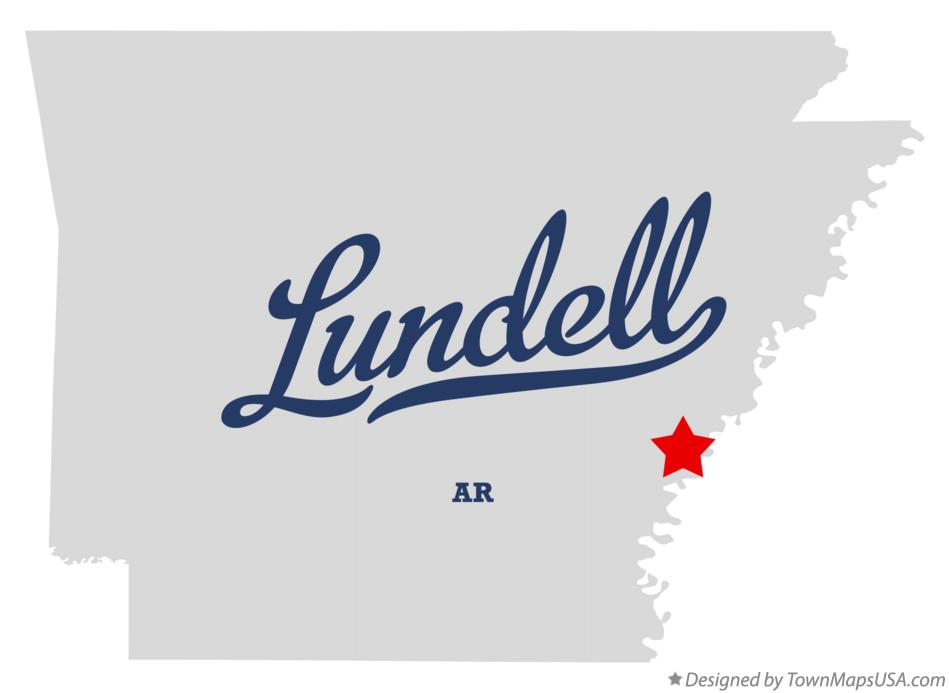 Map of Lundell Arkansas AR