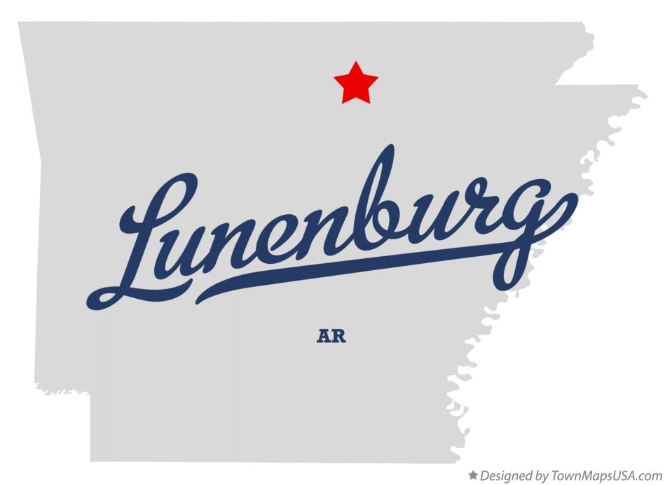 Map of Lunenburg Arkansas AR