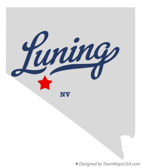 Map of Luning Nevada NV