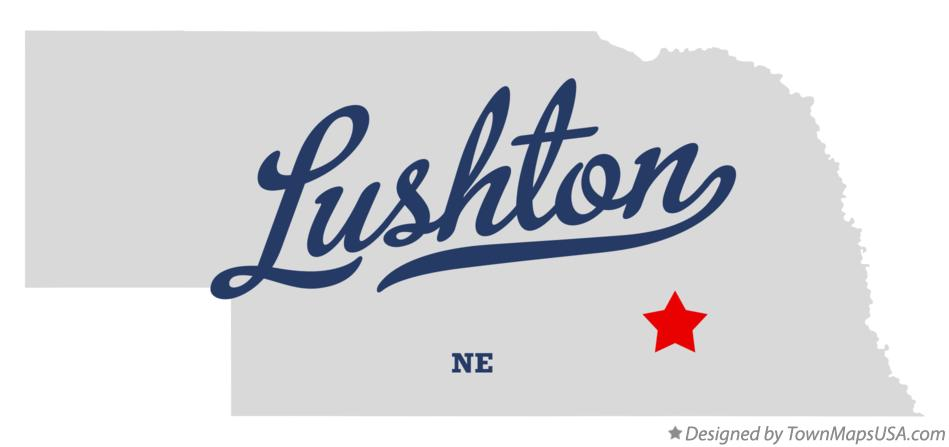 Map of Lushton Nebraska NE