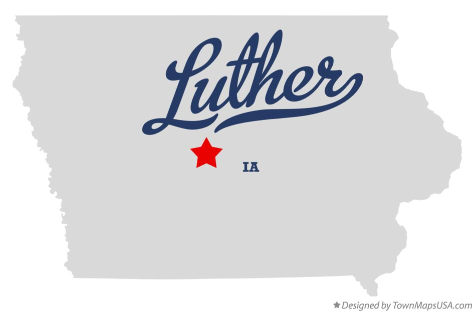 Map of Luther Iowa IA