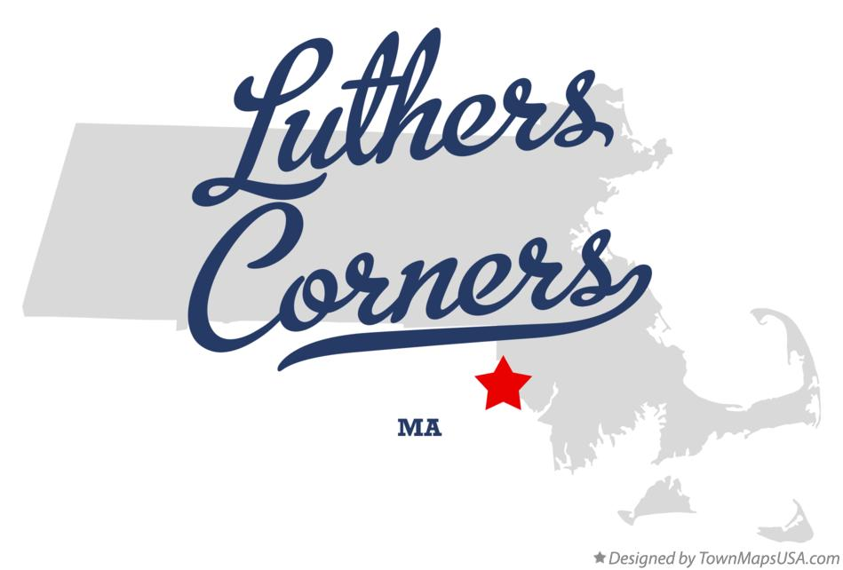 Map of Luthers Corners Massachusetts MA