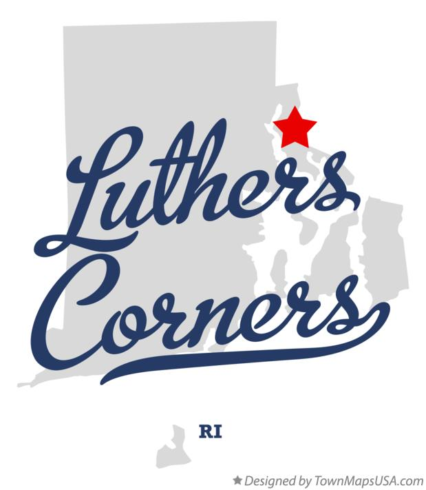 Map of Luthers Corners Rhode Island RI