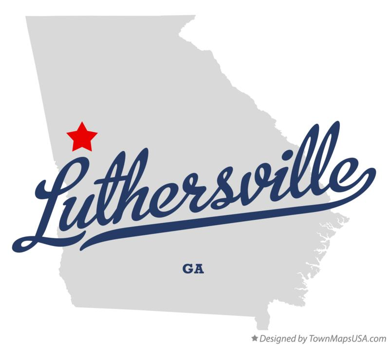 Map of Luthersville Georgia GA