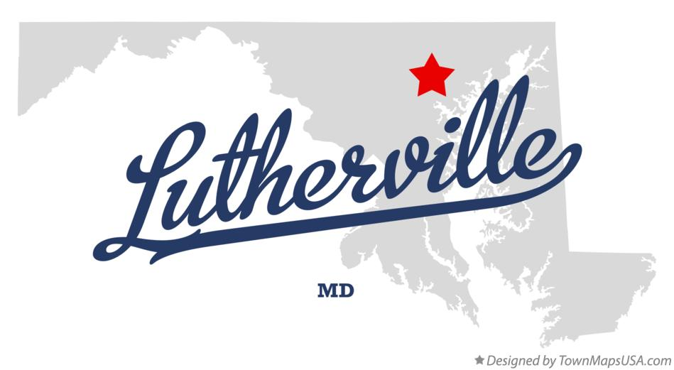 Map of Lutherville Maryland MD