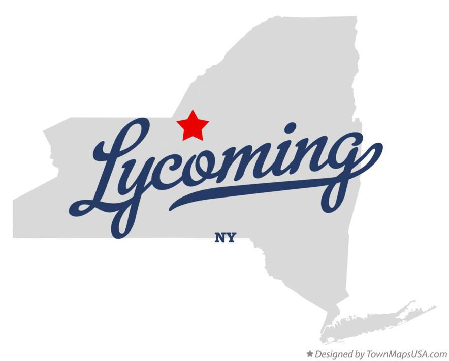 Map of Lycoming New York NY