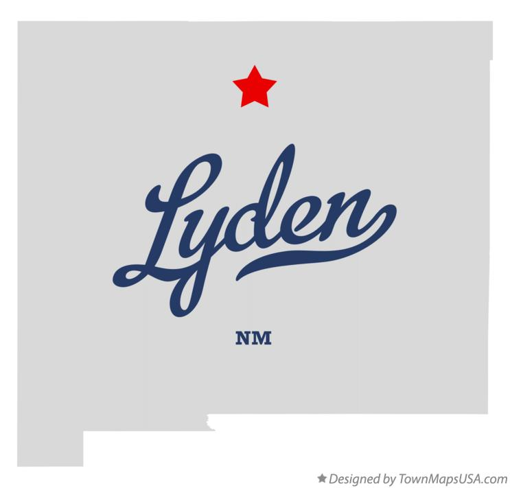 Map of Lyden New Mexico NM