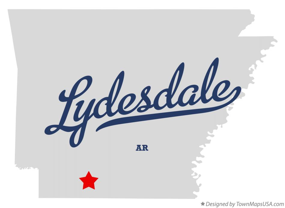 Map of Lydesdale Arkansas AR