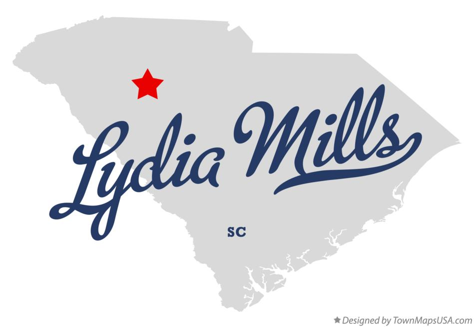 Map of Lydia Mills South Carolina SC