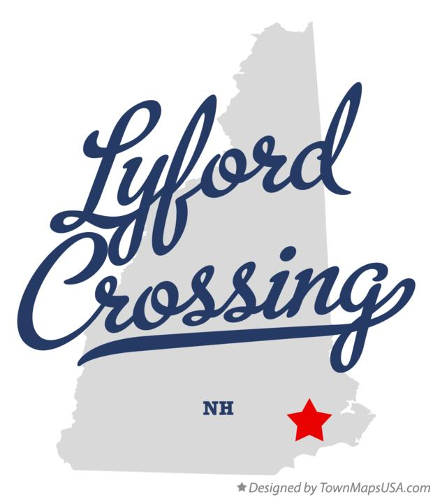 Map of Lyford Crossing New Hampshire NH