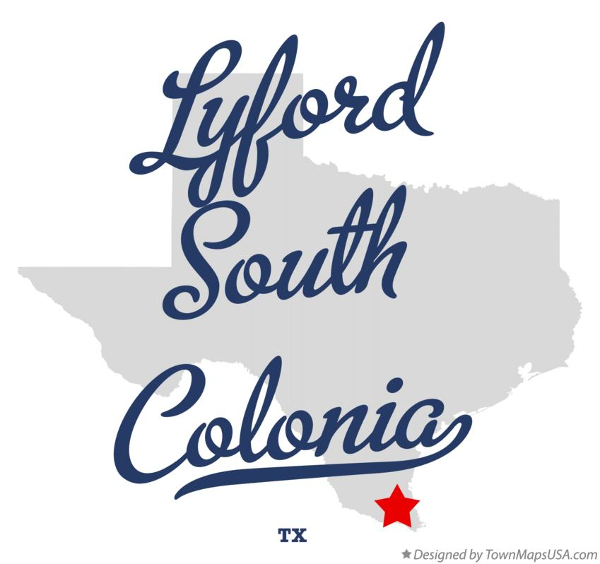 Map of Lyford South Colonia Texas TX