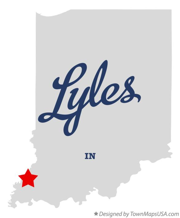 Map of Lyles Indiana IN