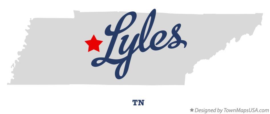 Map of Lyles Tennessee TN