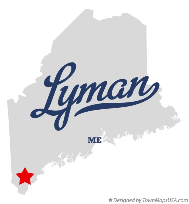 Map of Lyman Maine ME