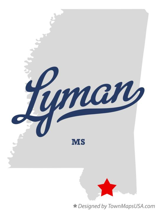 Map of Lyman Mississippi MS